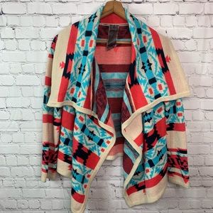 Anthropologie Moon Collection Aztec Cardigan